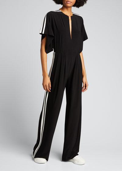Side-Stripe Rectangle Jumpsuit