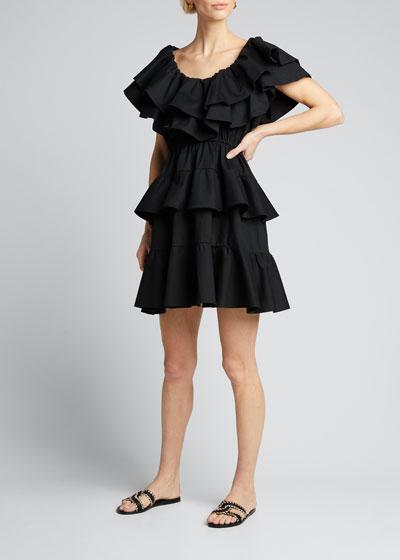 Dotty Tiered Ruffle Dress
