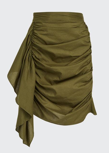 Hannah Ruched Draped Skirt