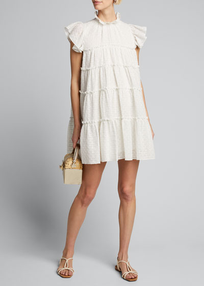 Tiffany Tiered High-Neck Short Dress
