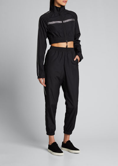 Unisex Crystal-Trim Track Pants