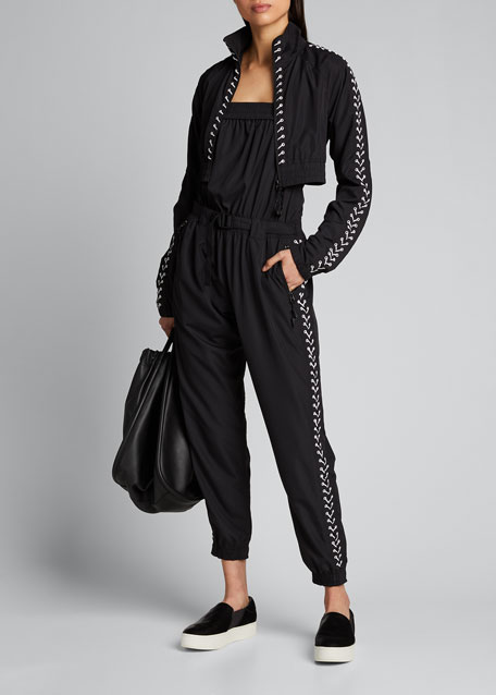 Image 1 of 1: Strapless Lace Up Tracksuit