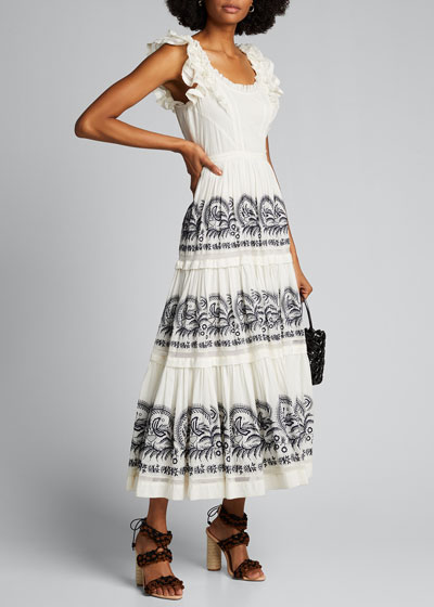 Julietta Embroidered Sleeveless Dress
