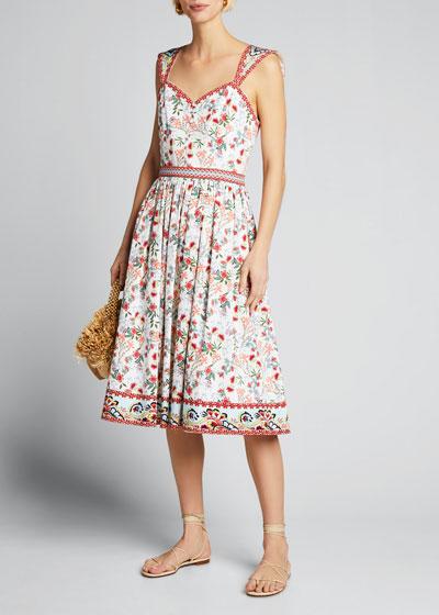 Portia Sweetheart Gathered Dress