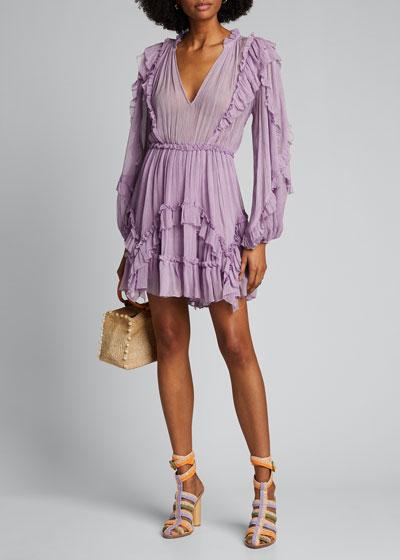 Aberdeen Long-Sleeve Ruffle Dress