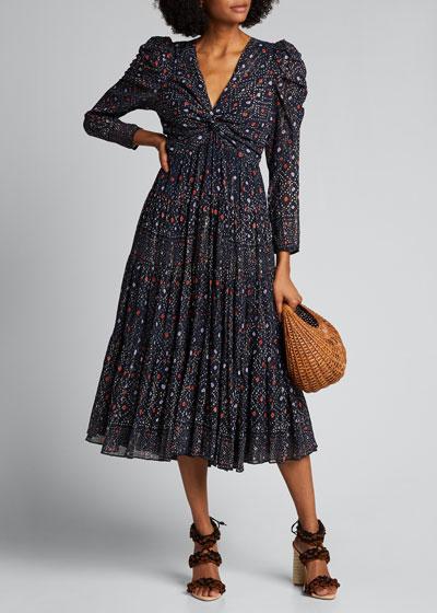 Miya Printed Twist-Front Dress
