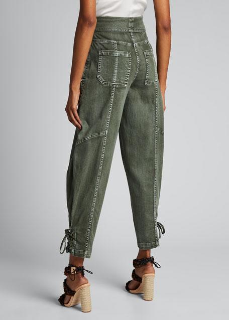 Kingston Foldover High-Rise Jeans