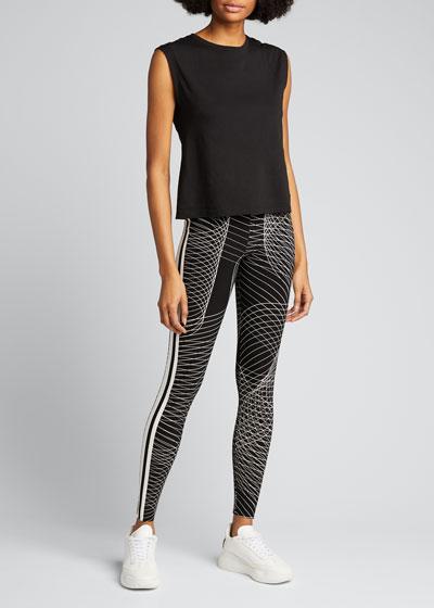 Side-Stripe High-Waist Active Leggings