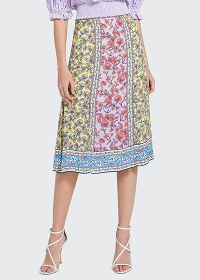 Athena Mid-Length Skirt w/ Slits