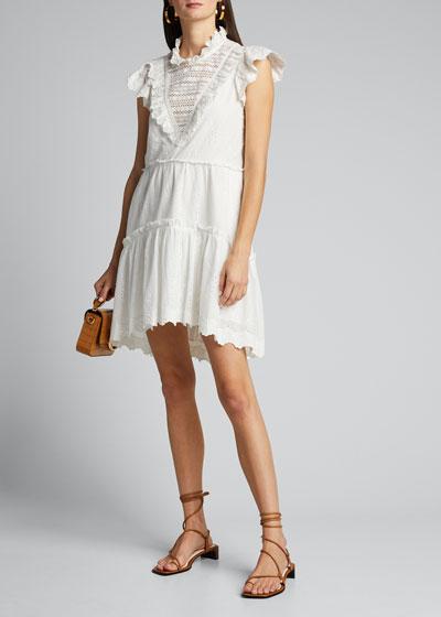 Lea Eyelet Ruffle Dress