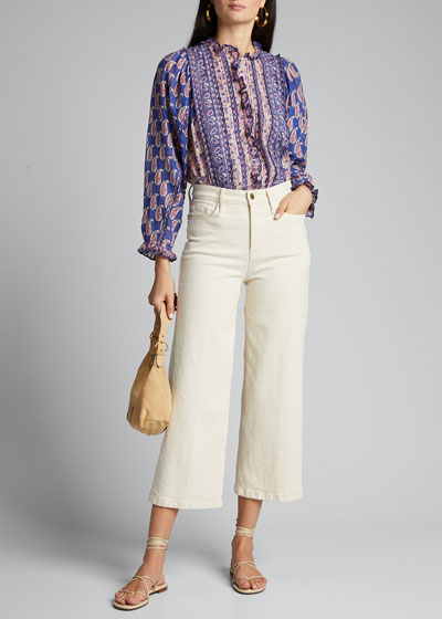 Bianca Paisley Long-Sleeve Blouse
