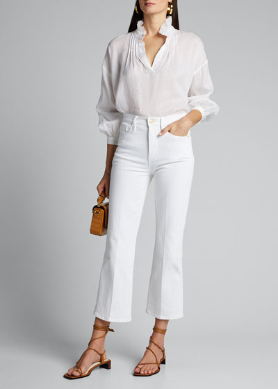 Lucy Collared Long-Sleeve Blouse