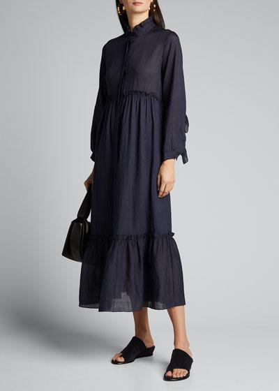 Lucy Long-Sleeve Maxi Dress