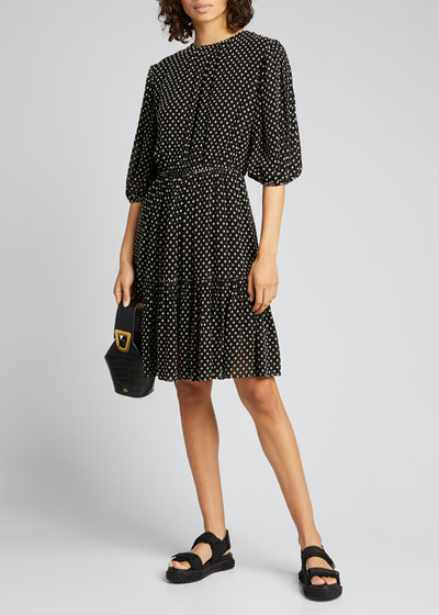 Kala Puff-Sleeve Dress