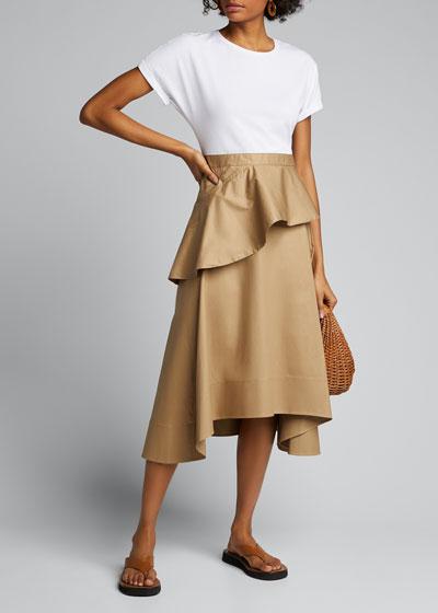 T-Shirt Ruffle Skirt Dress