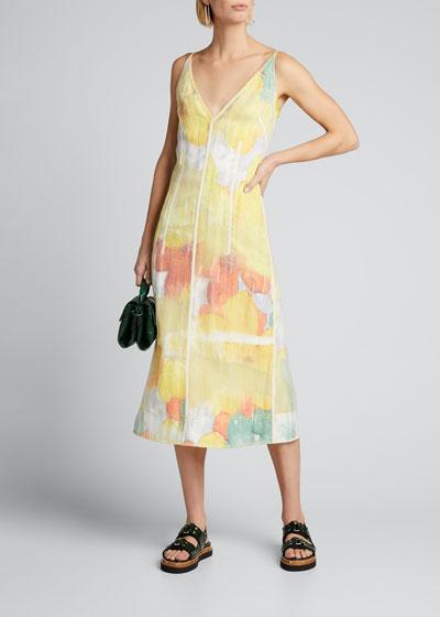 Sleeveless Transparent Frame Dress
