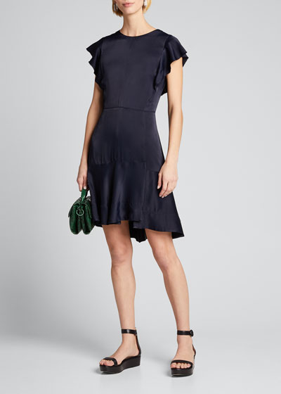 Dress with Ruffle Sleeve
