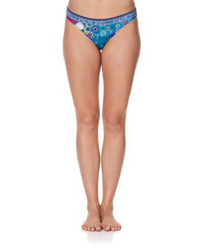 Printed Embellished Bikini Bottom
