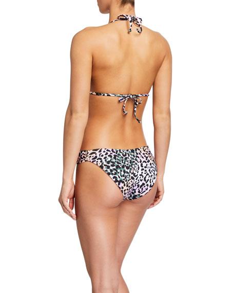 Cala Animal-Print Triangle Bikini Top
