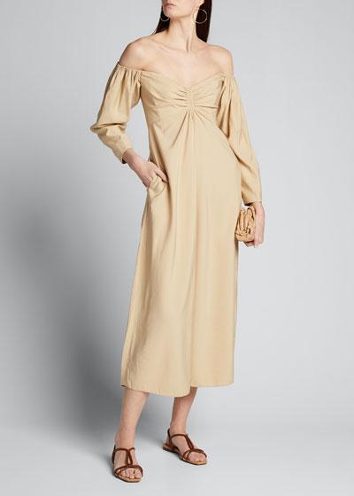 Calley Off-Shoulder Midi Dress