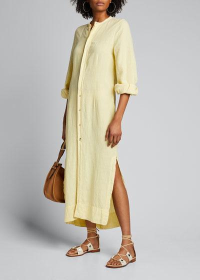 Linen Longline Shirtdress