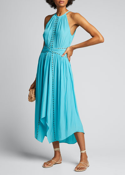 Mel Studded Sleeveless Midi Dress