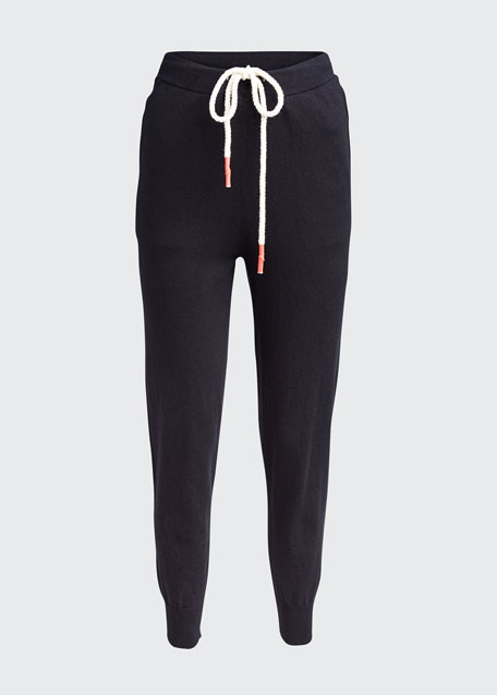 Cotton Knit Track Pants