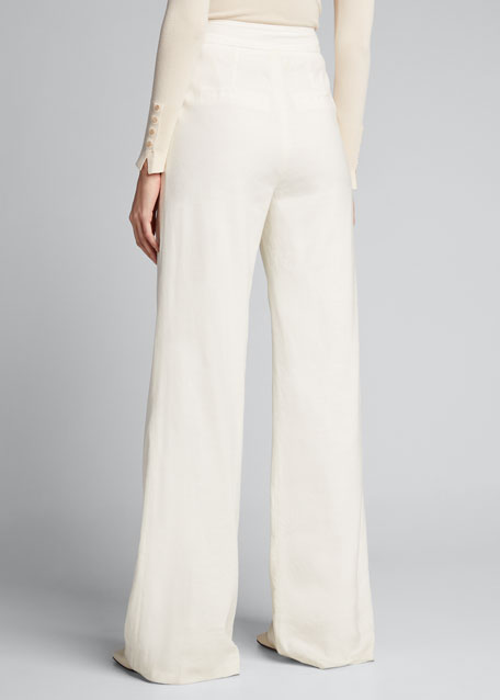 Wood High-Rise Belted Pants