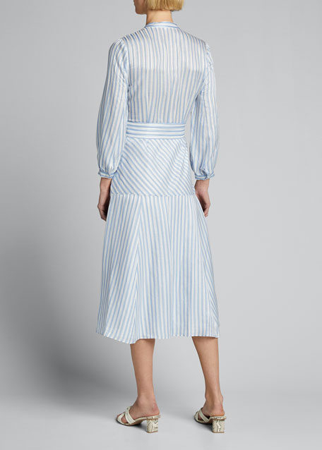Jenna Striped Tie-Waist Dress