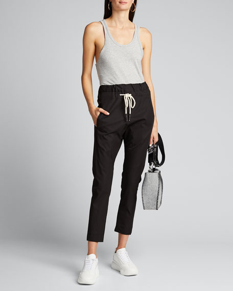 Stretch Relaxed Drawstring Pants
