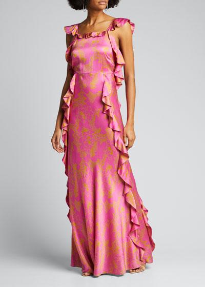 Haven Open-Back Ruffle Long Dress