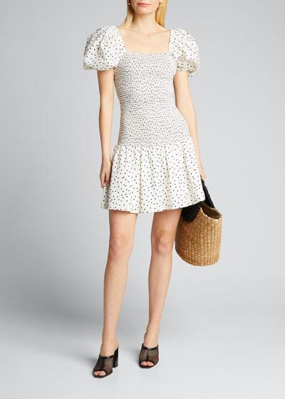 Eden Puff-Sleeve Smocked Dress