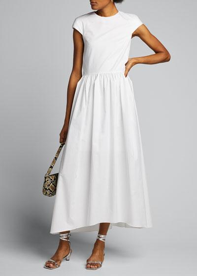Eco Poplin Origami Short-Sleeve Dress