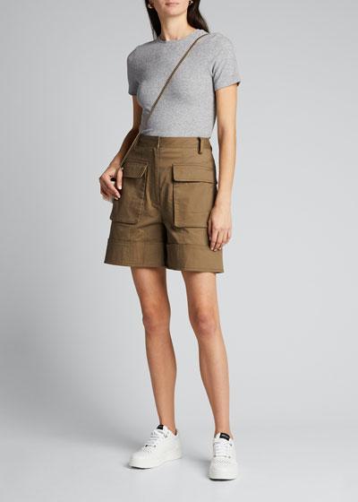 Myriam Twill Cuffed Cargo Shorts