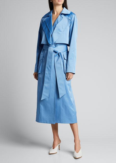 Duchesse Tech Satin Soft Trench Coat