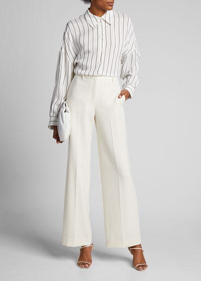 Anna Stripe Oversized Shirt