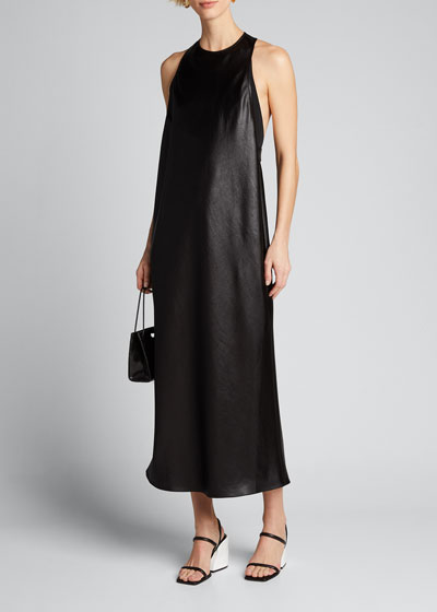 Celia Drape Sleeveless Bias Dress