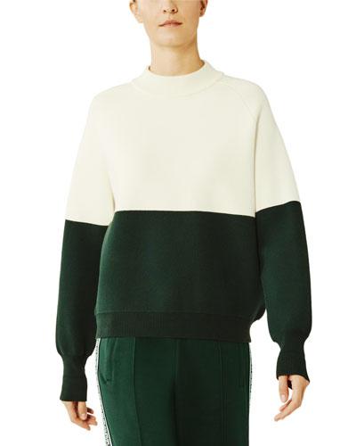 Viscose Colorblock Active Sweater