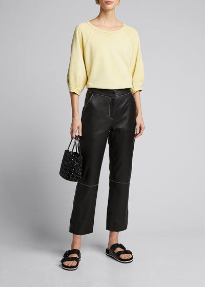 Puff-Sleeve Cotton Sweatshirt