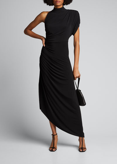 Monica One-Shoulder Asymmetric Cocktail Dress
