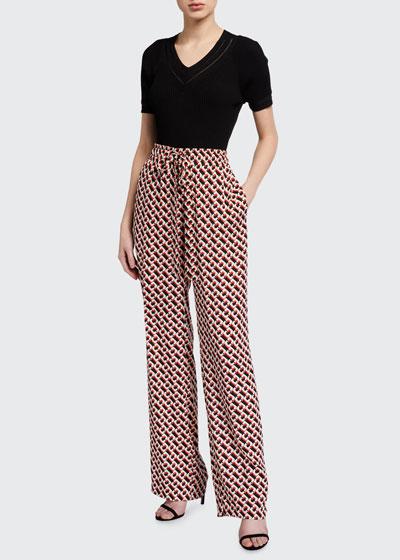 Denise Printed Drawstring Pants