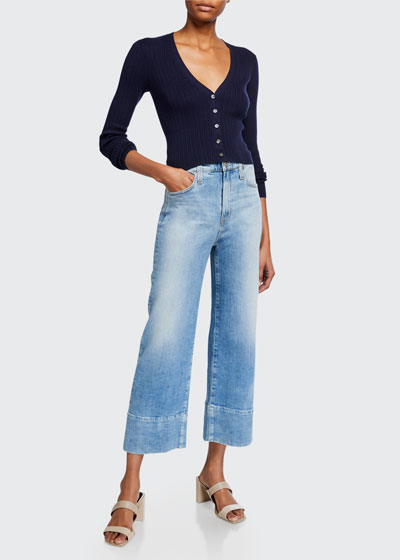 Etta High Waisted Wide-Leg Crop Jeans