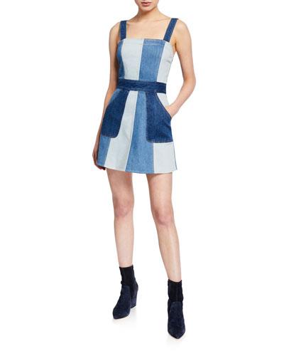 Jamie Denim Mini Dress with Pockets