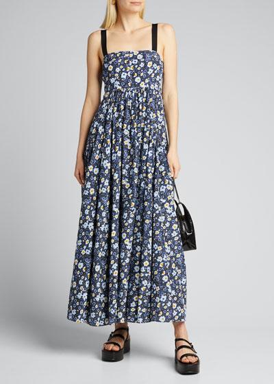 Liana Silk-Cotton Floral Maxi Dress