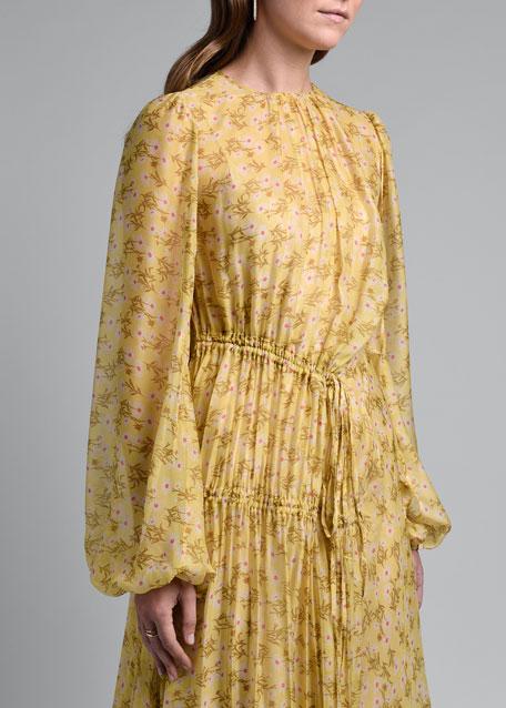 Chiffon Ruched Dress