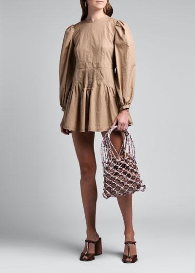 Poplin Flounce Dress