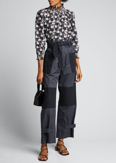 Ines Floral High-Neck Blouse
