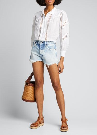 Tribbey Denim Shorts