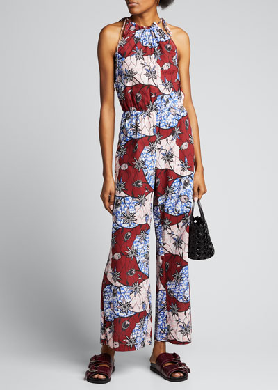 Fernanda Printed Sleeveless Jumpsuit