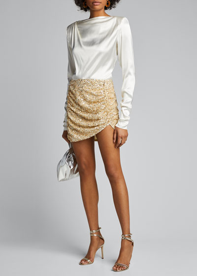 Celestia Sequined Mini Skirt